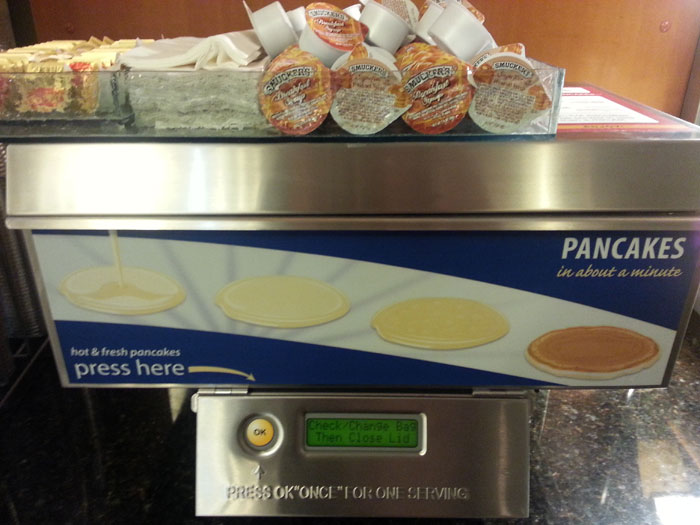 Holiday Inn Express Hot Fresh Instant Pancake