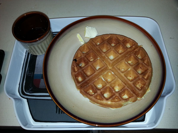 chicken-in-waffle-with-maple-syrup